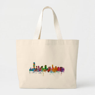 Jersey City New Jersey Skyline Tote Bags