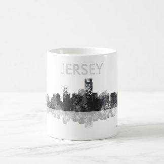 JERSEY CITY, NEW JERSEY SKYLINE BASIC WHITE MUG