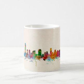 Jersey City New Jersey Skyline Basic White Mug