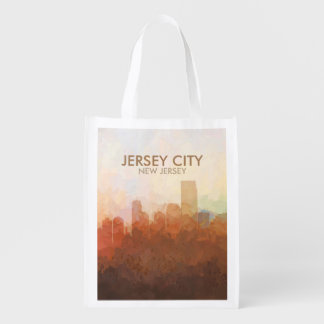 Jersey City, New Jersey Skyline IN CLOUDS Reusable Grocery Bag