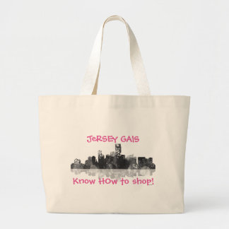JERSEY CITY, NEW JERSEY SKYLINE JUMBO TOTE BAG
