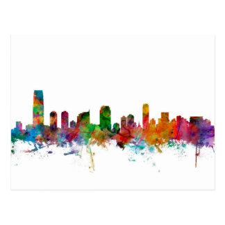 Jersey City New Jersey Skyline Postcards