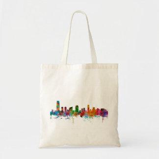 Jersey City New Jersey Skyline Canvas Bag
