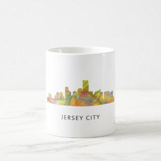 JERSEY CITY, NEW JERSEY SKYLINE WB1 - BASIC WHITE MUG