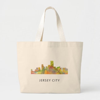 JERSEY CITY, NEW JERSEY SKYLINE WB1 - JUMBO TOTE BAG
