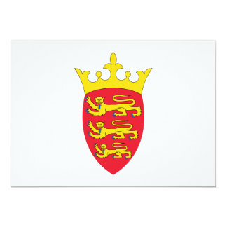 Jersey Coat of Arms Personalized Invitation