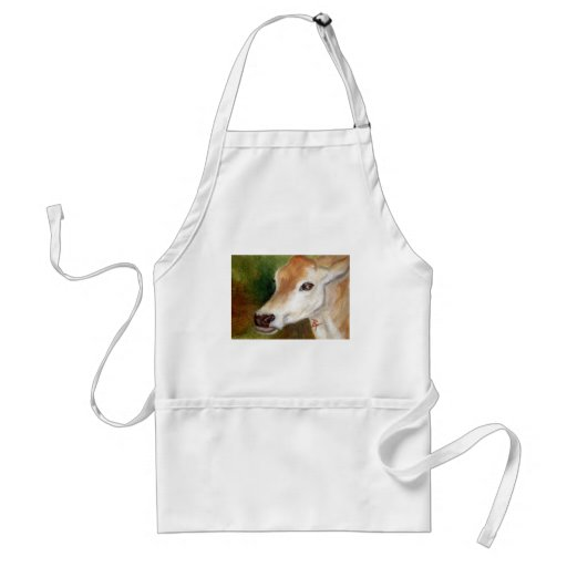 Jersey Cow aceo Apron