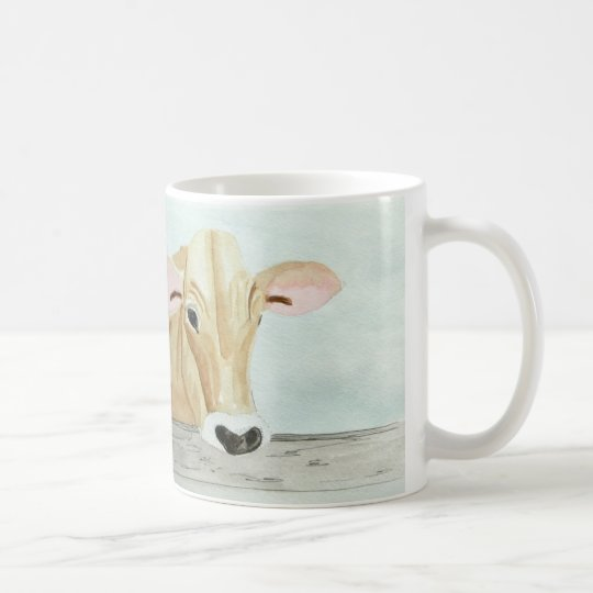 """Jersey Cow and """"Need Cream?' Coffee Mug"""