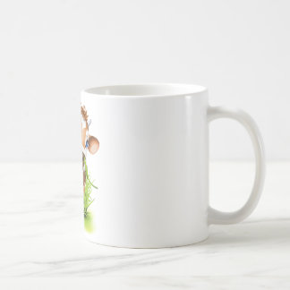 Jersey cow in grass coffee mug