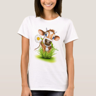 Jersey cow in grass T-Shirt