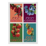 Jersey Fruits Poster