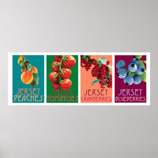Jersey Fruits Poster horizontal