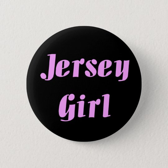JERSEY GIRL Embroidered Hat 6 Cm Round Badge