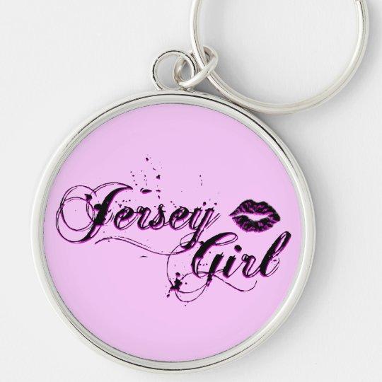 Jersey Girl Silver Keychain