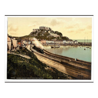 Jersey, Gorey and the castle, Channel Island, Engl Post Cards