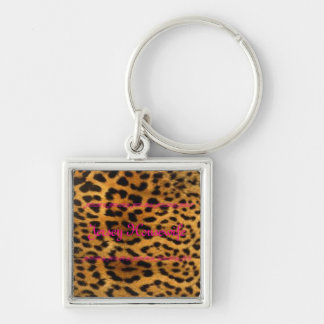Jersey Housewife Silver-Colored Square Key Ring