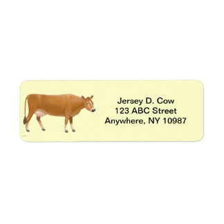 Jersey Milk Cow Label Return Address Label