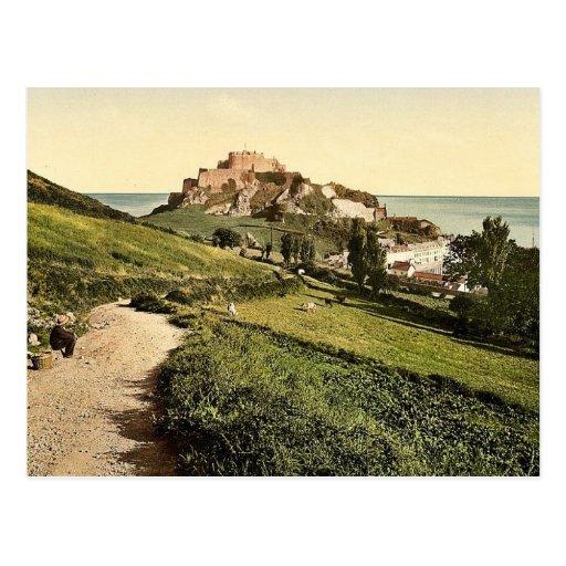 Jersey, Mont Orgueil Castle, Channel Island, Engla Post Cards