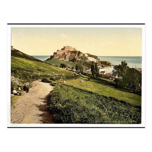 Jersey, Mont Orgueil Castle, Channel Island, Engla Postcards