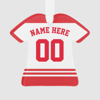 Jersey Name & Number Ornament Template, Hockey LAX