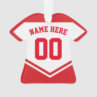 Jersey Name Number Ornament Template Hockey Soccer
