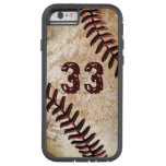 Jersey Number Cool Vintage Baseball iPhone 6 Cases