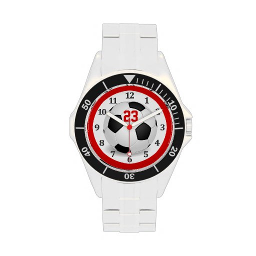 Jersey NUMBER Soccer Watches for Men & Teenagers