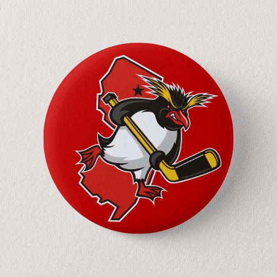 Jersey Penguins Button