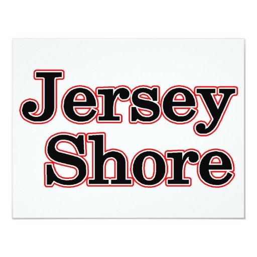 """Jersey Shore 4.25"""" X 5.5"""" Invitation Card"""