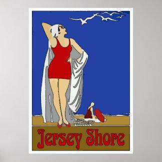 Jersey Shore Art Deco Vintage Poster