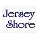 Jersey Shore blue Custom Announcements
