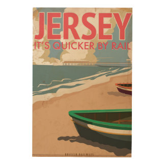 Jersey Vintage locomotive Travel Poster