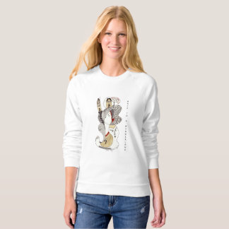 jersey with unique hand drawing sweatshirt