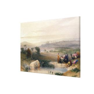 Jerusalem, April 1839, plate 22 from Volume I of ' Stretched Canvas Print