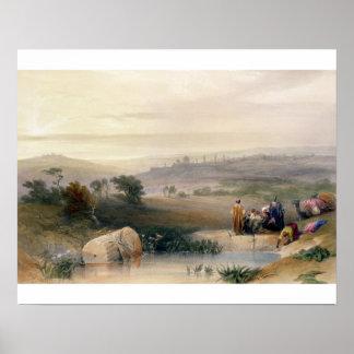 Jerusalem, April 1839, plate 22 from Volume I of ' Poster