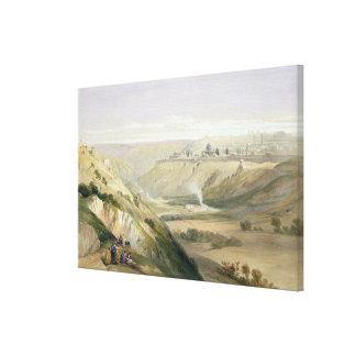 Jerusalem, April 5th 1839, plate 18 from Volume I Canvas Print