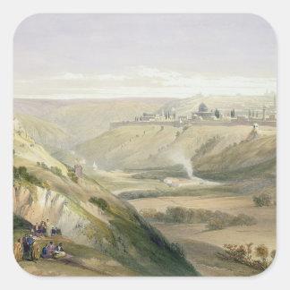 Jerusalem, April 5th 1839, plate 18 from Volume I Square Sticker