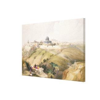 Jerusalem, April 9th 1839, plate 16 from Volume I Canvas Print