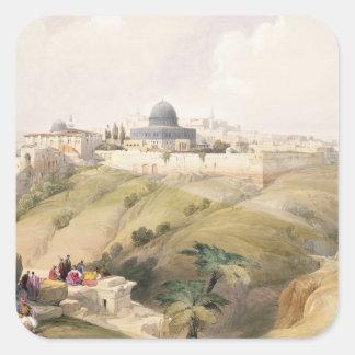 Jerusalem, April 9th 1839, plate 16 from Volume I Square Sticker