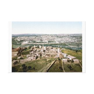 Jerusalem around 1900 stretched canvas prints
