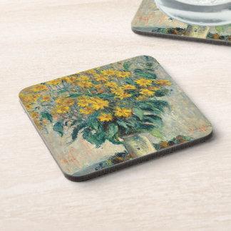 Jerusalem Artichoke Flowers, 1880 (oil on canvas) Drink Coaster