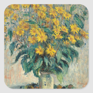 Jerusalem Artichoke Flowers, 1880 (oil on canvas) Square Sticker