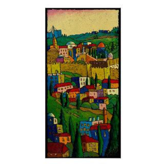 Jerusalem at Dawn, Jonathan Kis-Lev Poster