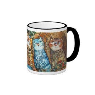 Jerusalem cats ringer mug