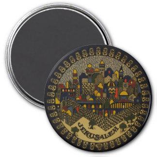 Jerusalem Ceramic 7.5 Cm Round Magnet