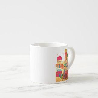 Jerusalem City Colorful Art Espresso Cup