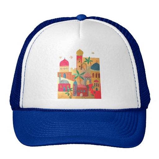 Jerusalem City Colorful Art Mesh Hat