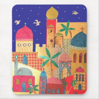 Jerusalem City Colorful Art Mousepads