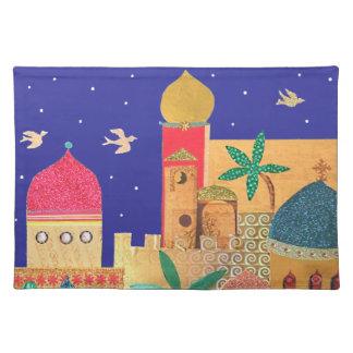 Jerusalem City Colorful Art Placemat