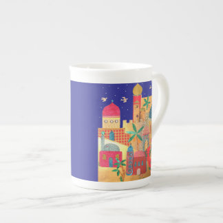 Jerusalem City Colorful Art Porcelain Mugs